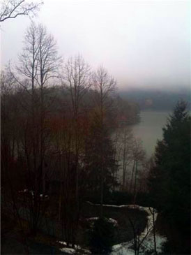 Dreary morning on Lake Glenville